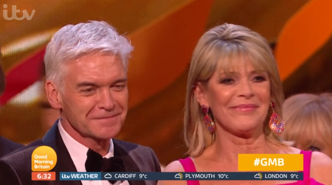 Ruth Langsford and Phillip Schofield at the NTAs