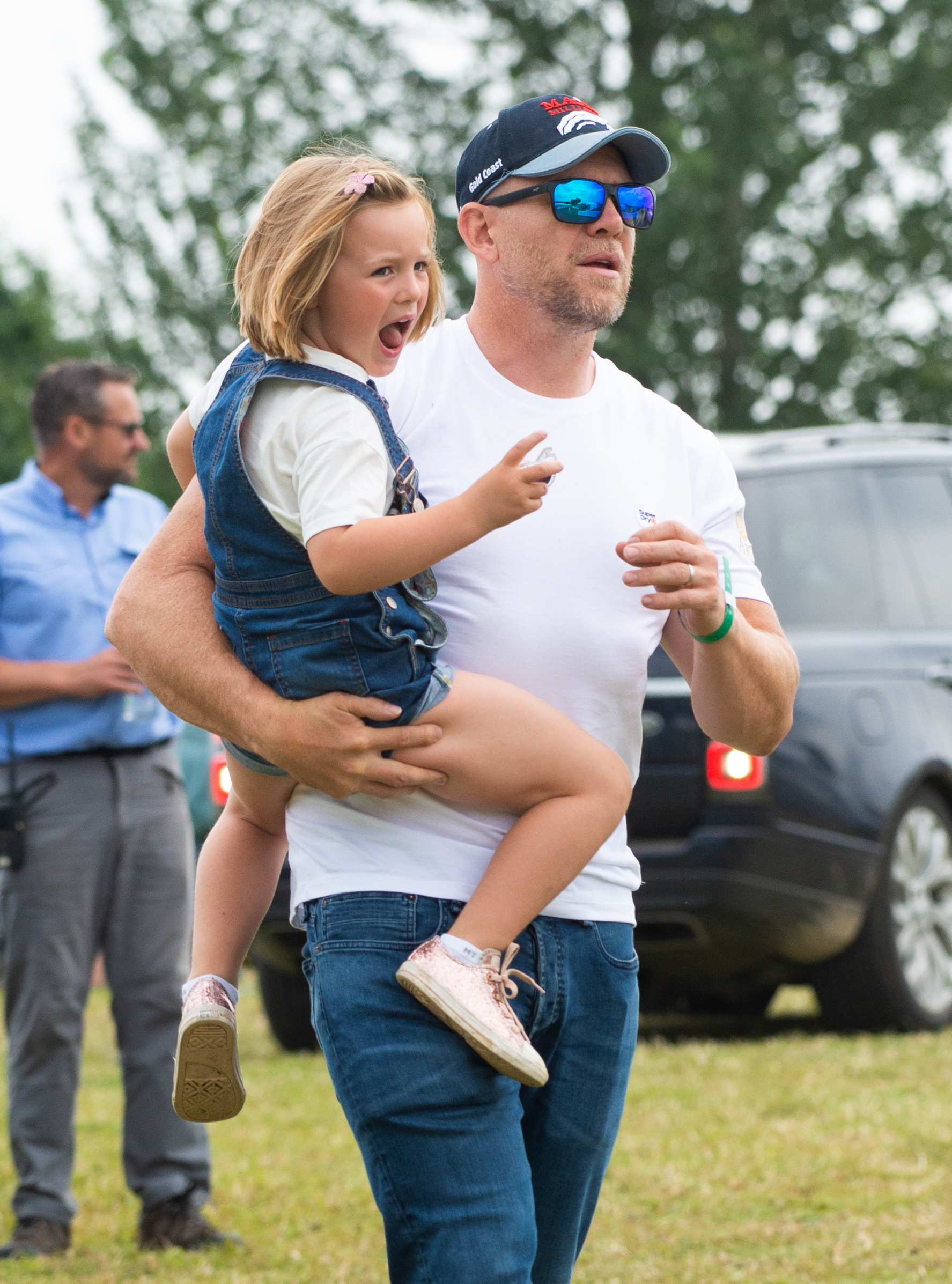 Mia Tindall and Mike Tindall