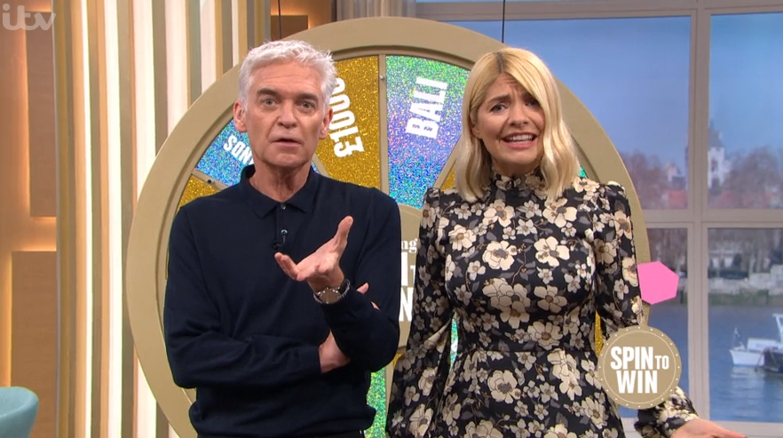 Phillip Schofield and Holly Willoughby in hysterics as viewer swears live on This Morning