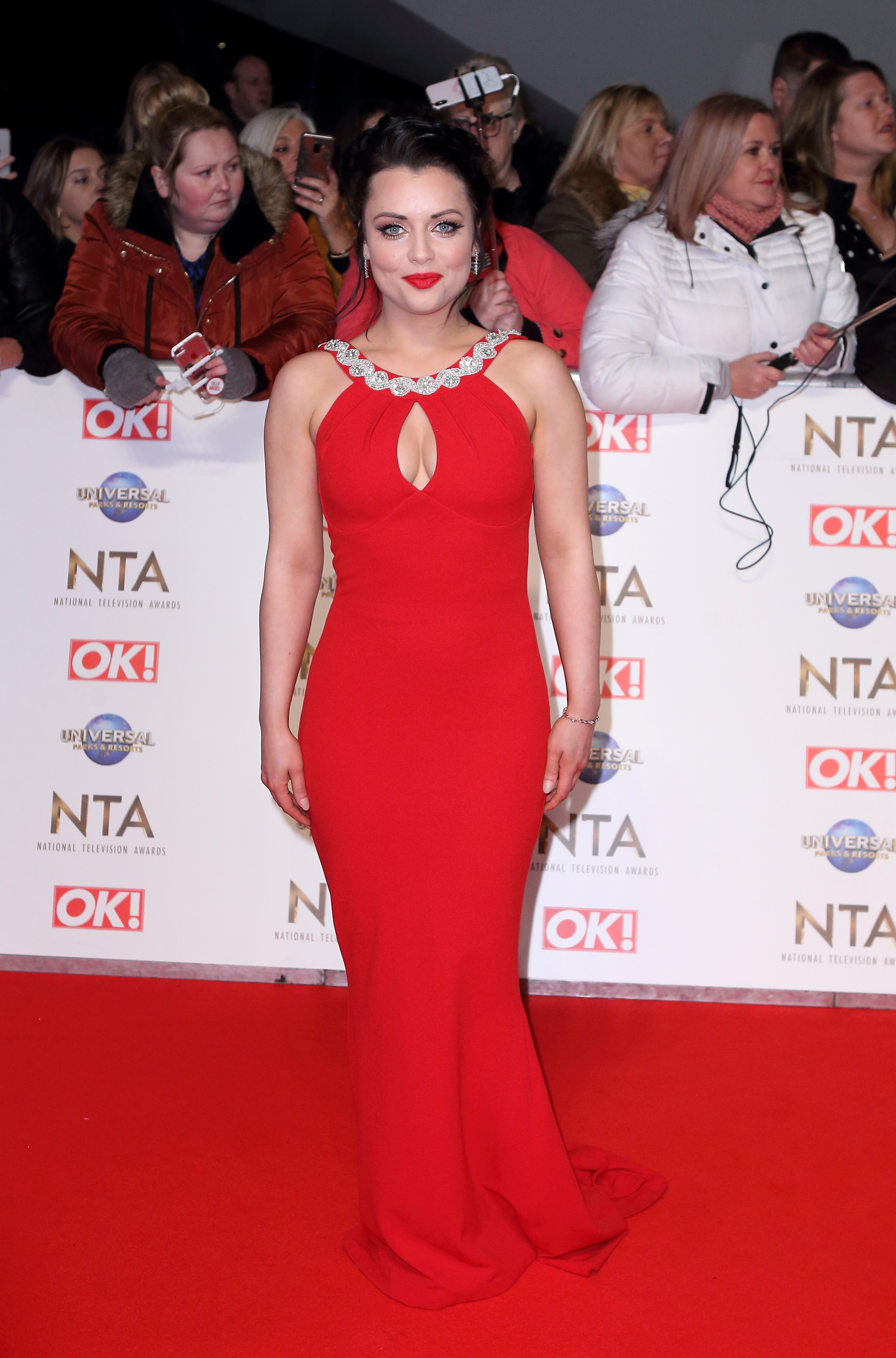 National Television Awards (NTA) 2020 Red Carpet Arrivals, O2 London Pictured: Shona McGarty Ref: SPL5143746 280120 NON-EXCLUSIVE Picture by: Grant Buchanan / SplashNews.com Splash News and Pictures Los Angeles: 310-821-2666 New York: 212-619-2666 London: +44 (0)20 7644 7656 Berlin: +49 175 3764 166 photodesk@splashnews.com World Rights