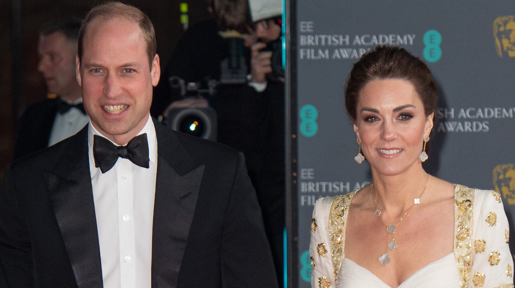 The Duke and Duchess of Cambridge laugh off awkward Harry and Meghan jibe at the BAFTAs