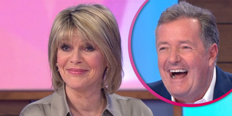 Ruth Langsford red-faced as Piers Morgan takes swipe at Phillip Schofield 'feud' live on Loose Women
