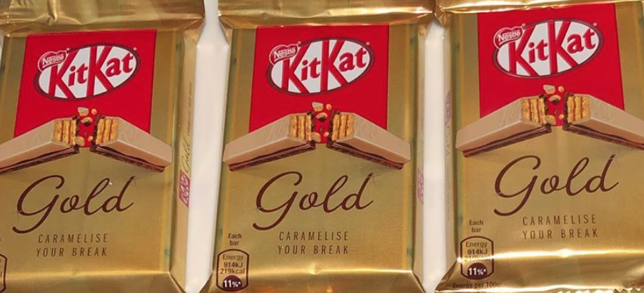 Fans declare the new white chocolate and caramel KitKat Gold bars 'a creation of the gods'