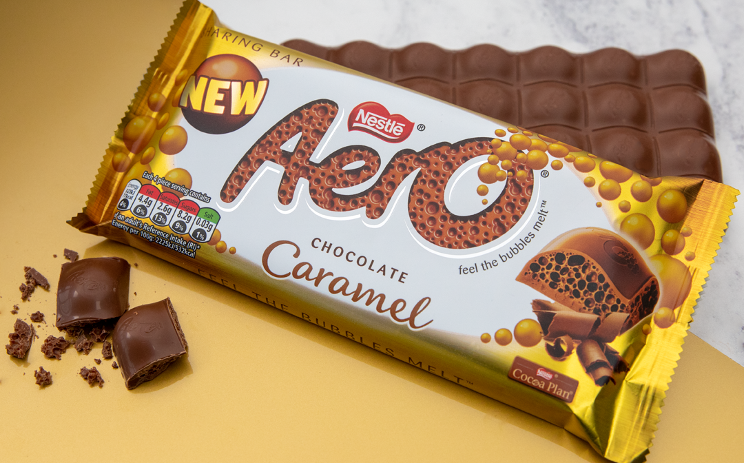 Chocoholics can't wait to try the 'tasty' new Aero Caramel bar as it launches in the UK