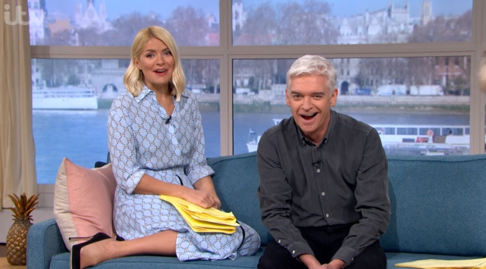 Phillip Schofield kisses a pig on This Morning as viewers unimpressed with Holly's behaviour