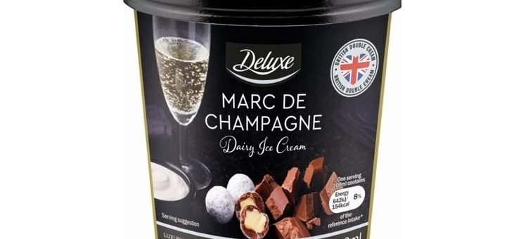 Lidl launches champagne-flavoured ICE CREAM for Valentine's Day and it costs just £2.50 a tub