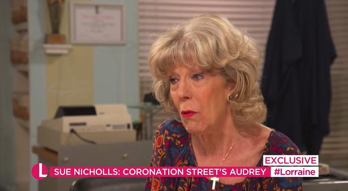 Coronation Street's Sue Nicholls on Lorraine Credit: ITV
