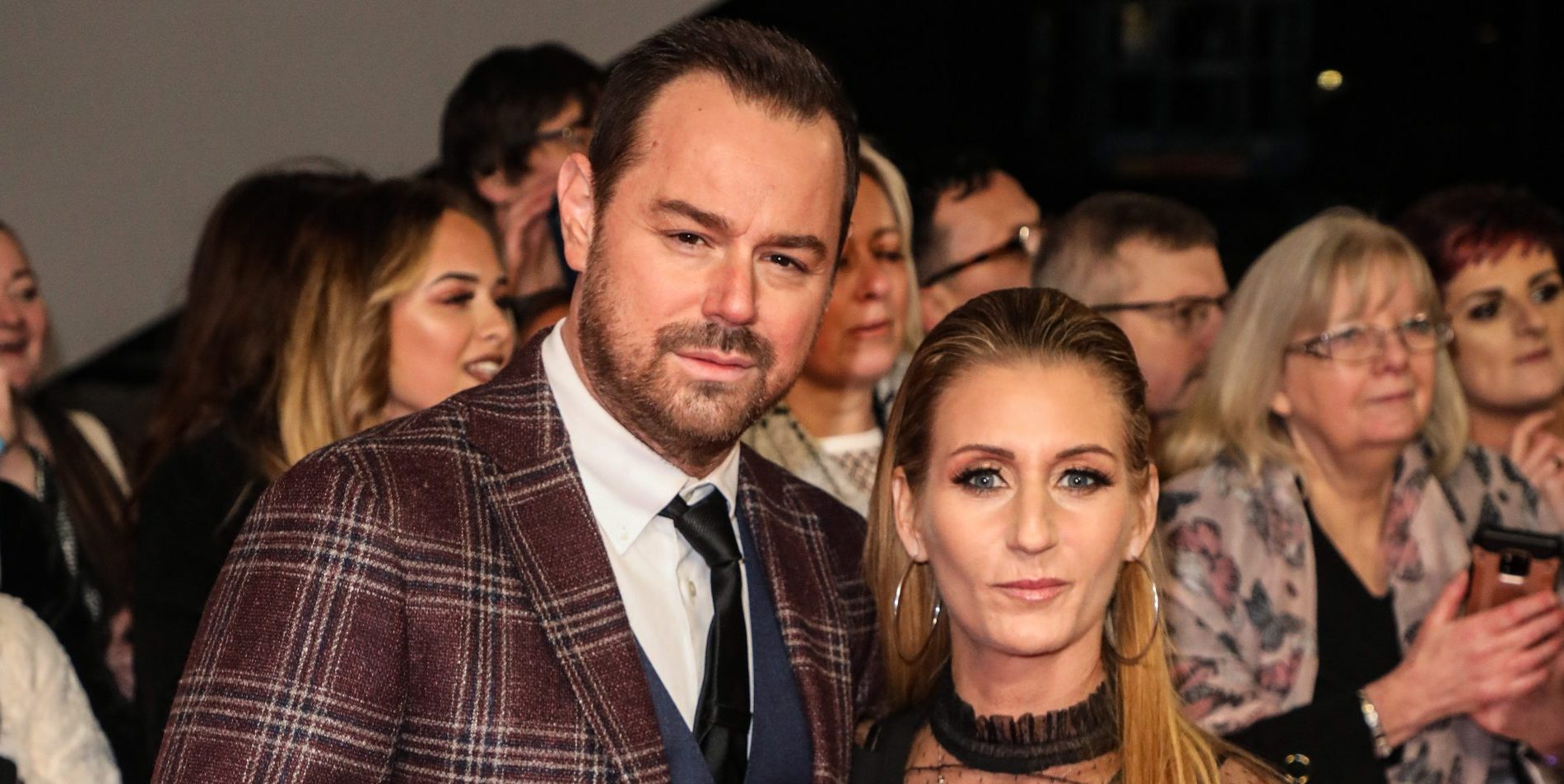 Celebrities attending The National Television Awards 2020 at the 02 Arena in London Pictured: Danny Dyer,Joanne Mas Ref: SPL5144415 280120 NON-EXCLUSIVE Picture by: Brett D. Cove / SplashNews.com Splash News and Pictures Los Angeles: 310-821-2666 New York: 212-619-2666 London: +44 (0)20 7644 7656 Berlin: +49 175 3764 166 photodesk@splashnews.com World Rights