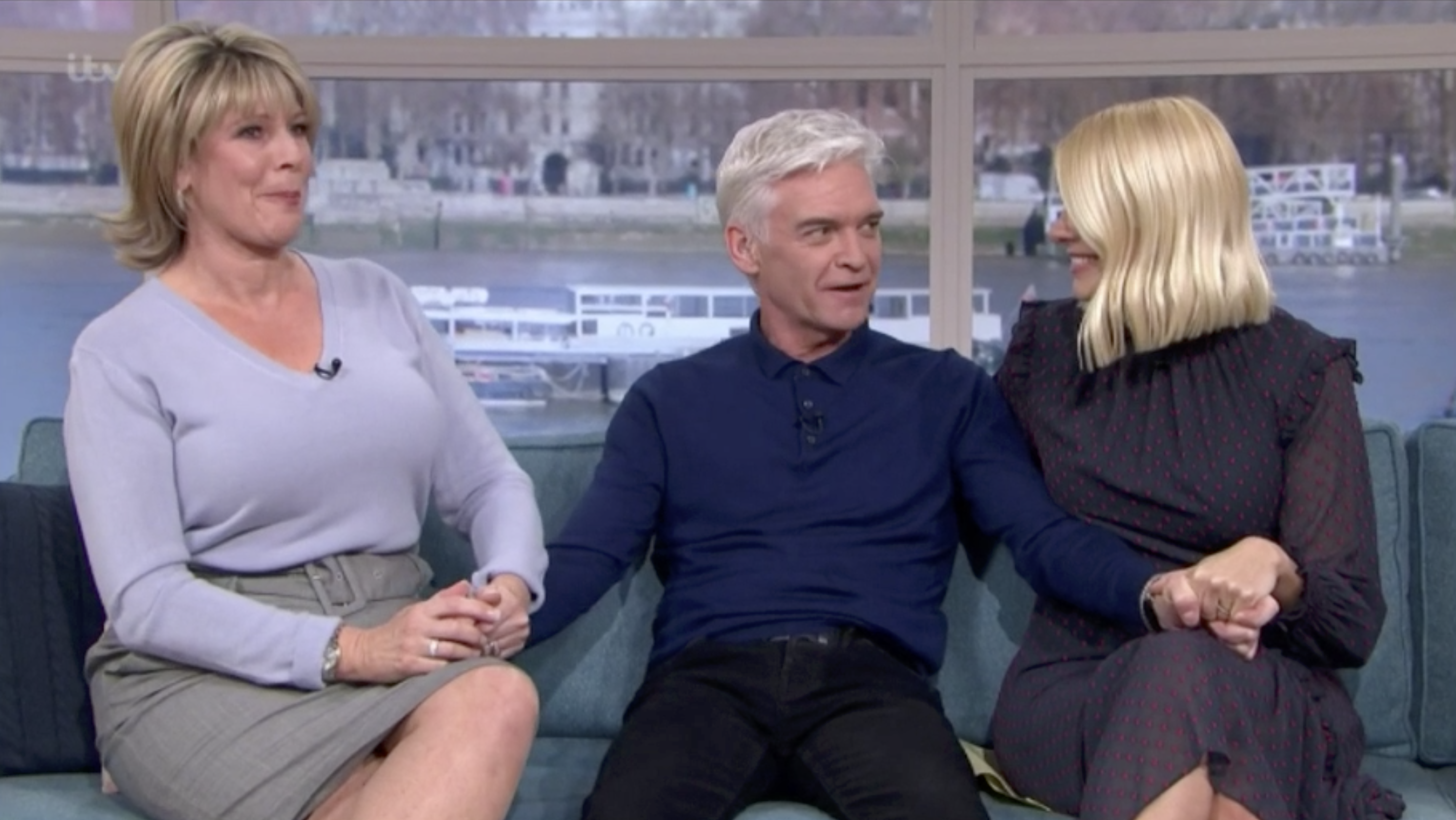 Ruth Langsford 'ends feud' with Phillip Schofield as she hugs him live on air