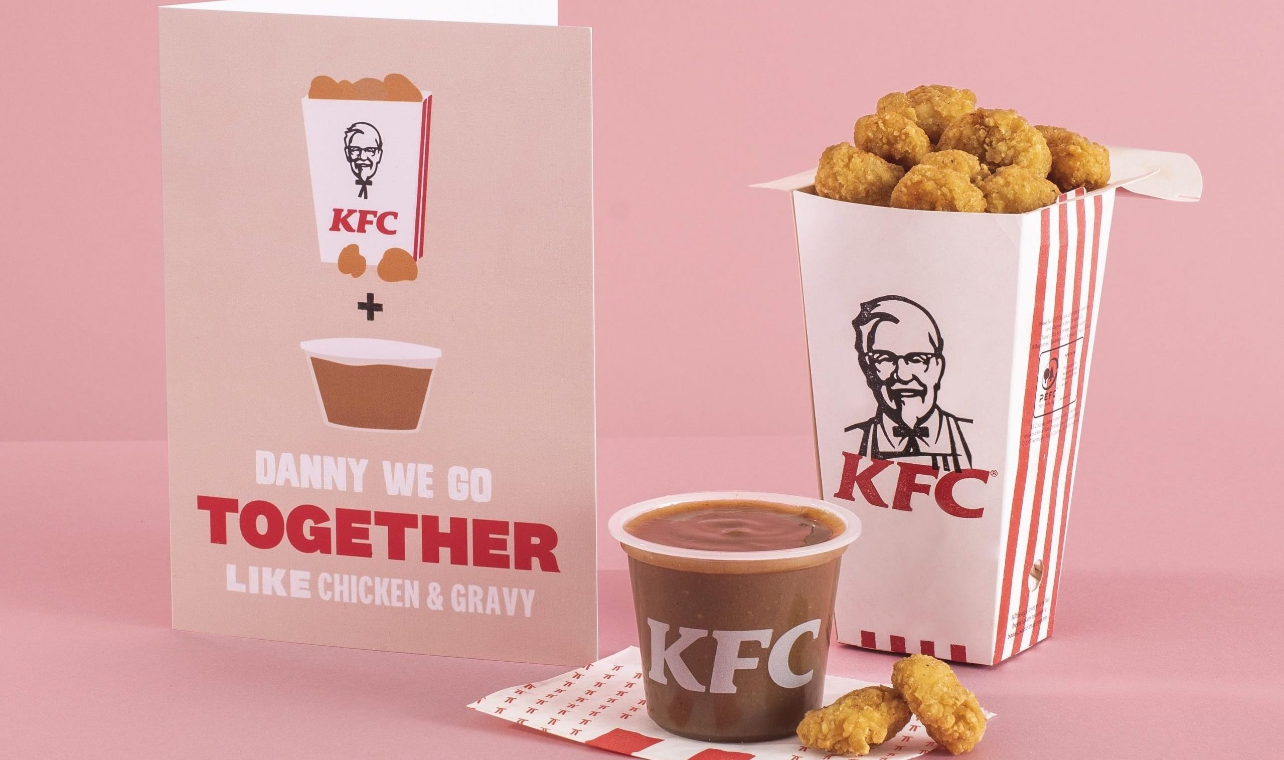 KFC launches a range of Valentine's cards and one of them smells of chicken