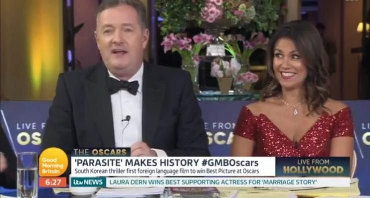 Piers Morgan apologises as Sharon Osbourne swears live on GMB Oscars special