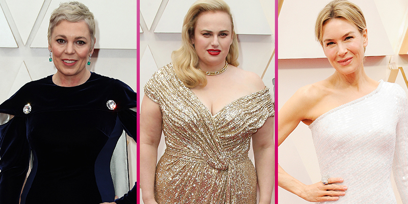 Leading ladies Olivia Colman, Rebel Wilson and Renée Zellweger dazzle on the Oscars red carpet
