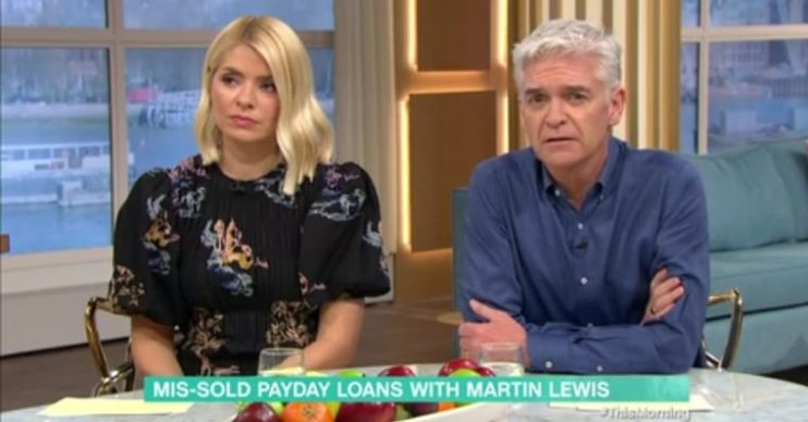 Philip Schofield mouths 'sorry' after Martin Lewis swears