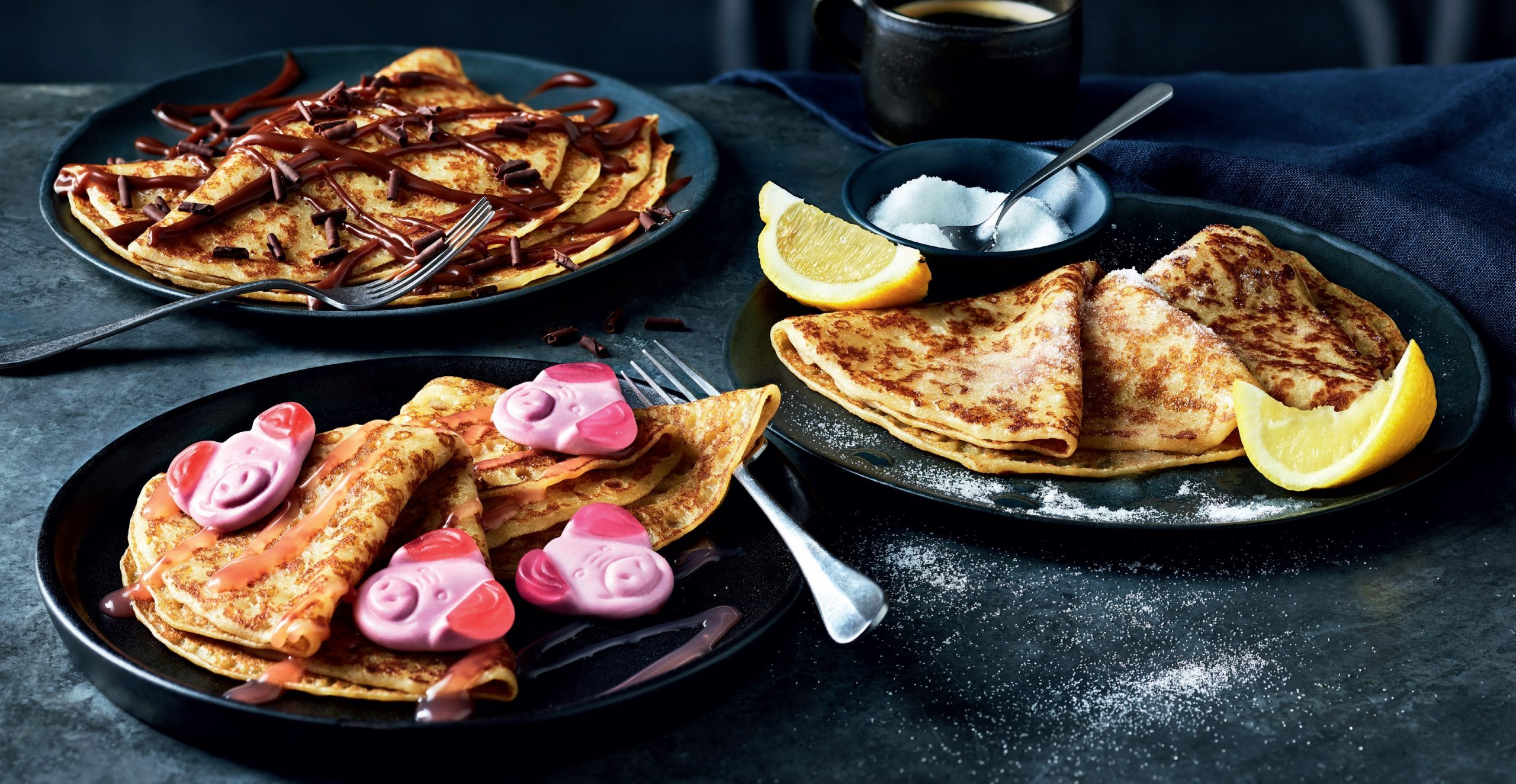M&S introduces Percy Pig pancakes topped with sweets and dessert sauce for Shrove Tuesday