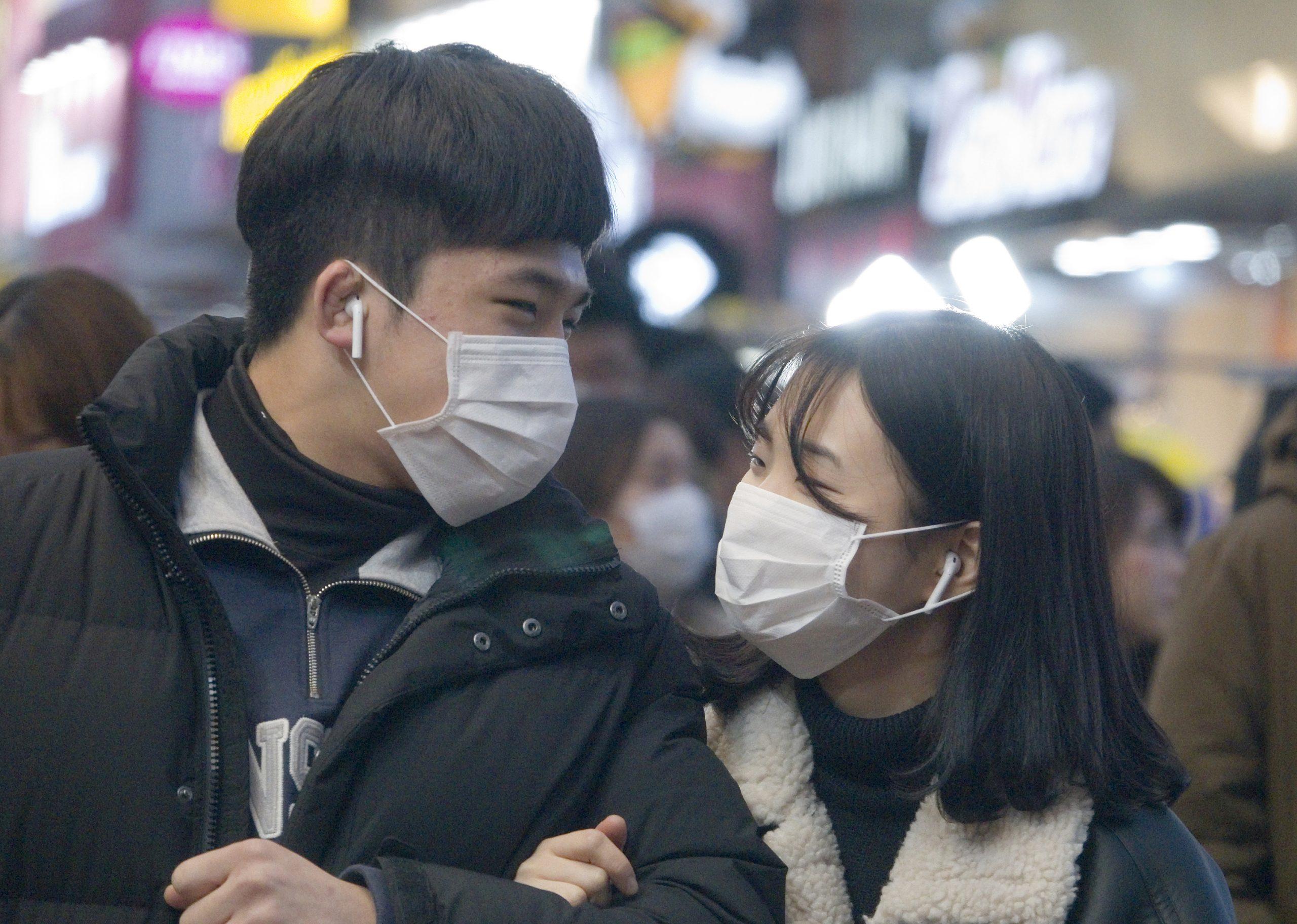 People wearing masks to protect against Coronavirus
