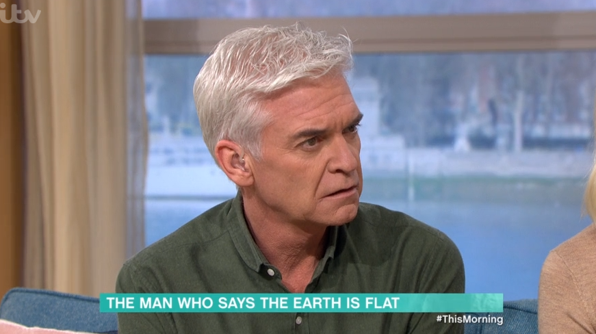 This Morning viewers in hysterics as Phillip Schofield clashes with Flat Earth believer