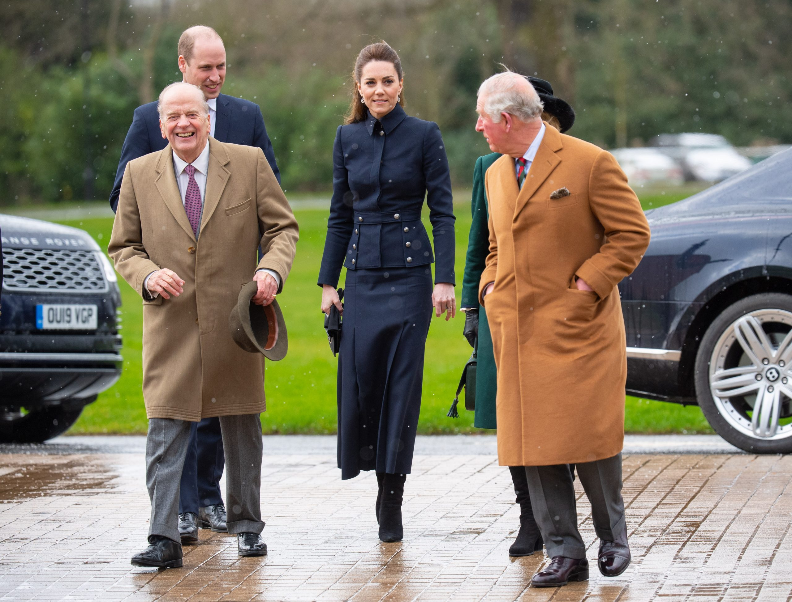 Price William, Kate Middleton and Prince Charles