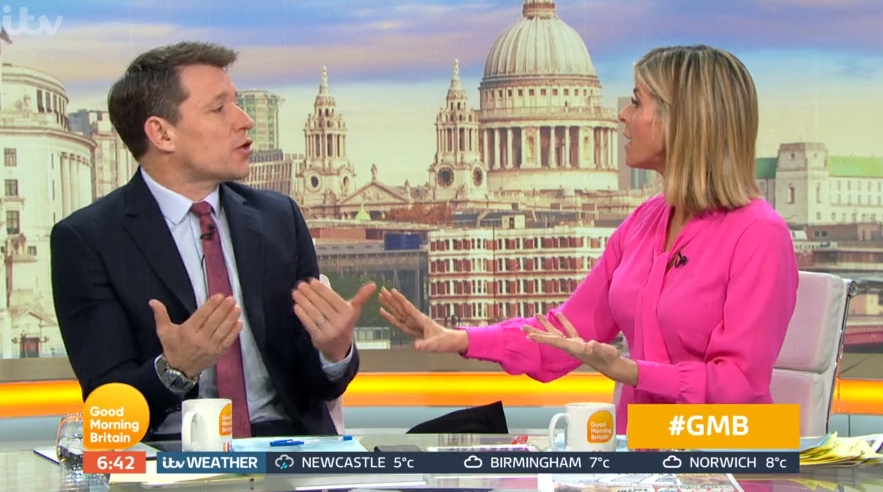 GMB viewers brand Ben Shephard 'rude' as he clashes with Kate Garraway