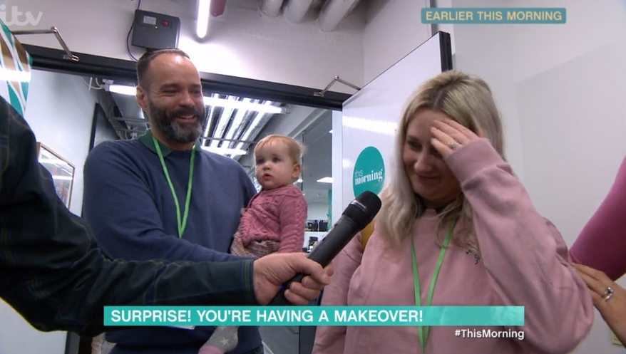 This Morning fans convinced woman is 'fuming' with husband who surprises her with Valentine's makeover