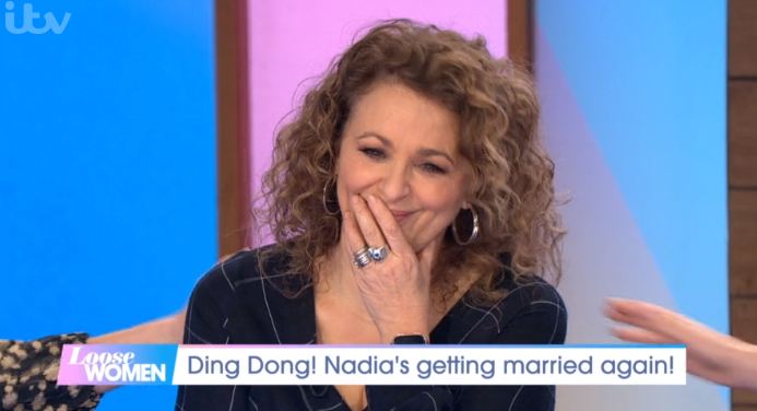 Nadia Sawalha chokes up as she reveals she's renewing vows with husband