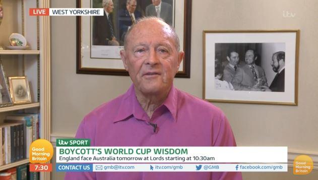 Geoffrey Boycott on Good Morning Britain