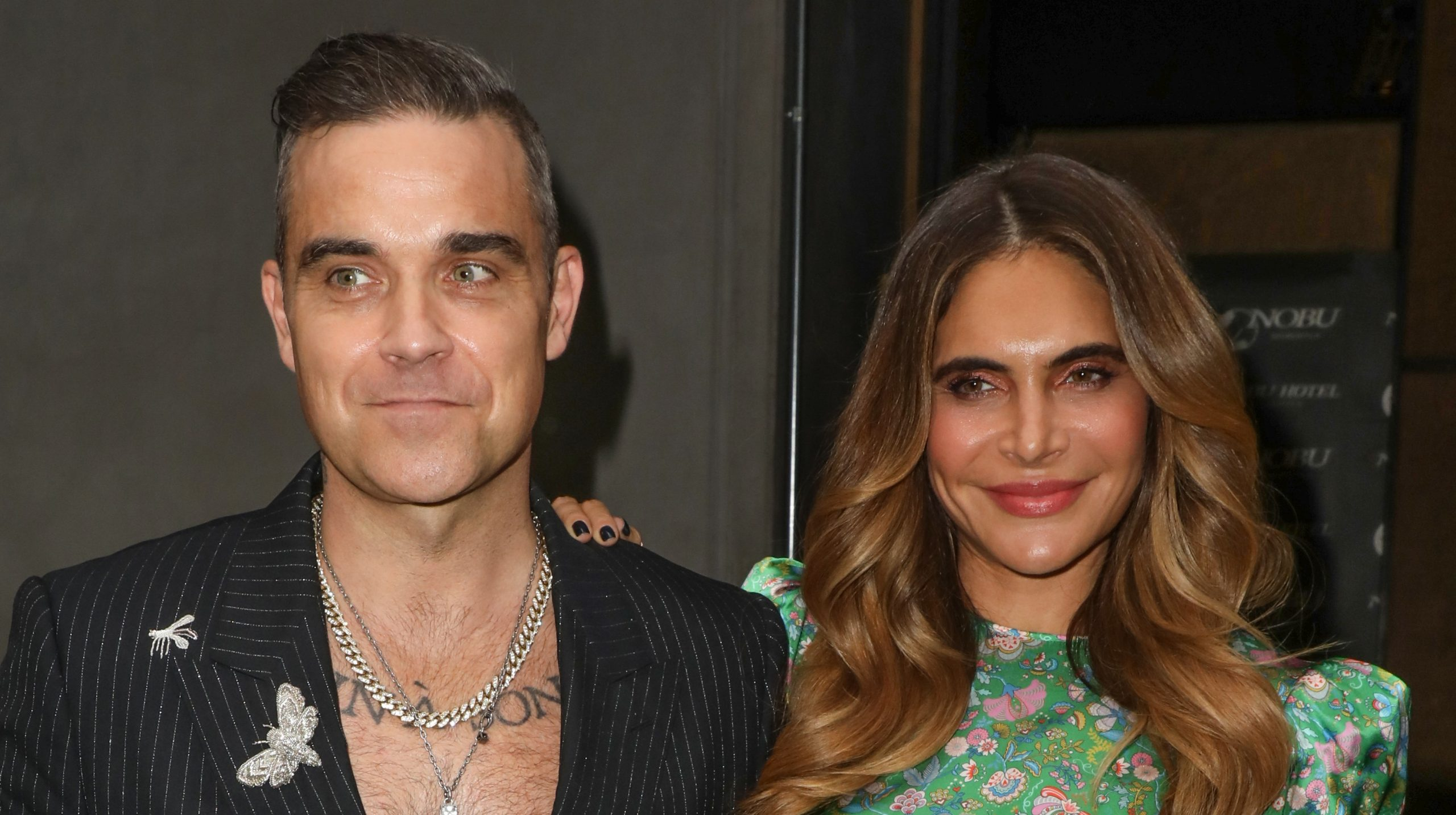 Robbie Williams and wife Ayda share baby news