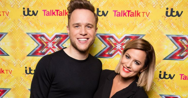 X Factor Presenters poses up at a press conference in the Sky Bar at the Hilton Hotel, Wembley, London before this weekend's live X Factor final. Pictured: Olly Murs,Caroline Flack,Olly Murs Caroline Flack Ref: SPL1193794 101215 NON-EXCLUSIVE Picture by: SplashNews.com Splash News and Pictures Los Angeles: 310-821-2666 New York: 212-619-2666 London: +44 (0)20 7644 7656 Berlin: +49 175 3764 166 photodesk@splashnews.com World Rights
