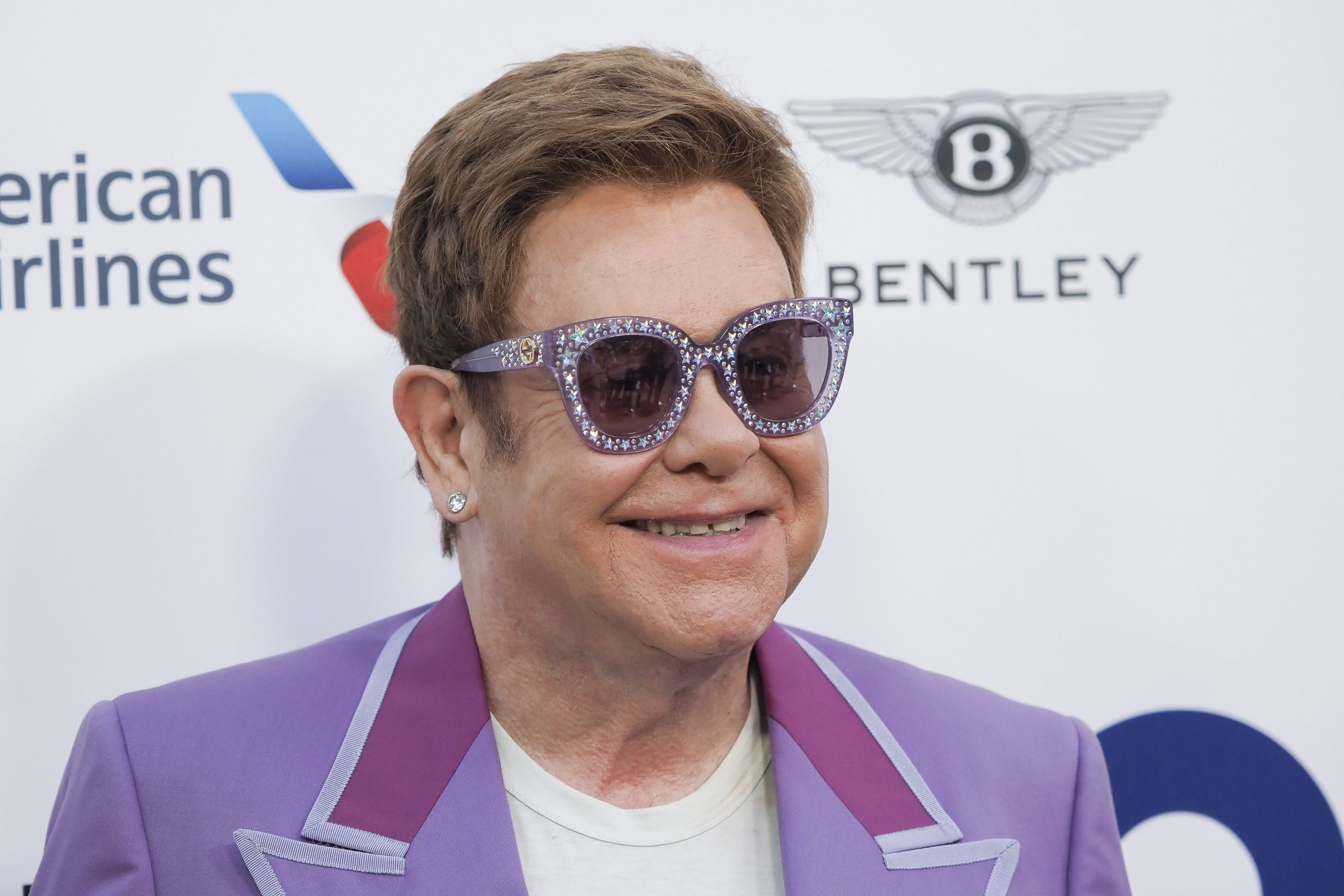"First ""Midsummer Party"" hosted by Sir Elton John and David Furnish to raise funds for the Elton John Aids Foundation in Antibes, France. Pictured: Sir Elton John Ref: SPL5105772 240719 NON-EXCLUSIVE Picture by: SplashNews.com Splash News and Pictures Los Angeles: 310-821-2666 New York: 212-619-2666 London: +44 (0)20 7644 7656 Berlin: +49 175 3764 166 photodesk@splashnews.com World Rights, No Belgium Rights, No France Rights, No Switzerland Rights"