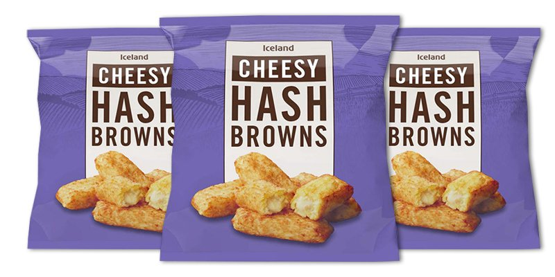 Shoppers can't get over how good Iceland's Cheesy Hash Browns taste and they cost just £2 a bag!