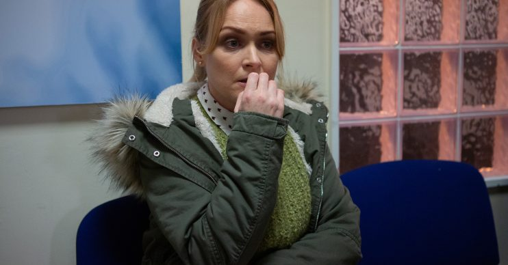 FROM ITV Strictly Embargoed until: 19.30pm on Monday 17th February 2020 DEVASTATING DIAGNOSIS In tonightÕs (17/2/20) Emmerdale, veterinarian Vanessa Woodfield played by actress Michelle Hardwick was revealed to have bowel cancer. Her worrying news was revealed to the viewers by Pierce Harris (Jonathan Wrather) who is currently holding her hostage. Sadly for Vanessa due to her current situation she is unable to share her devastating news with loved ones and at this time, hostage taker Pierce is the only other character aware of her diagnosis. This important storyline will play out on Emmerdale over the coming months as Vanessa comes to terms with her diagnosis, shares her symptoms, concerns and undergoes extensive treatment. The Emmerdale team have been working with charity Bowel Cancer UK over this storyline. Picture contact - David.crook@itv.com Photographer - Mark Bruce This photograph is (C) ITV Plc and can only be reproduced for editorial purposes directly in connection with the programme or event mentioned above, or ITV plc. Once made available by ITV plc Picture Desk, this photograph can be reproduced once only up until the transmission [TX] date and no reproduction fee will be charged. Any subsequent usage may incur a fee. This photograph must not be manipulated [excluding basic cropping] in a manner which alters the visual appearance of the person photographed deemed detrimental or inappropriate by ITV plc Picture Desk. This photograph must not be syndicated to any other company, publication or website, or permanently archived, without the express written permission of ITV Picture Desk. Full Terms and conditions are available on www.itv.com/presscentre/itvpictures/terms