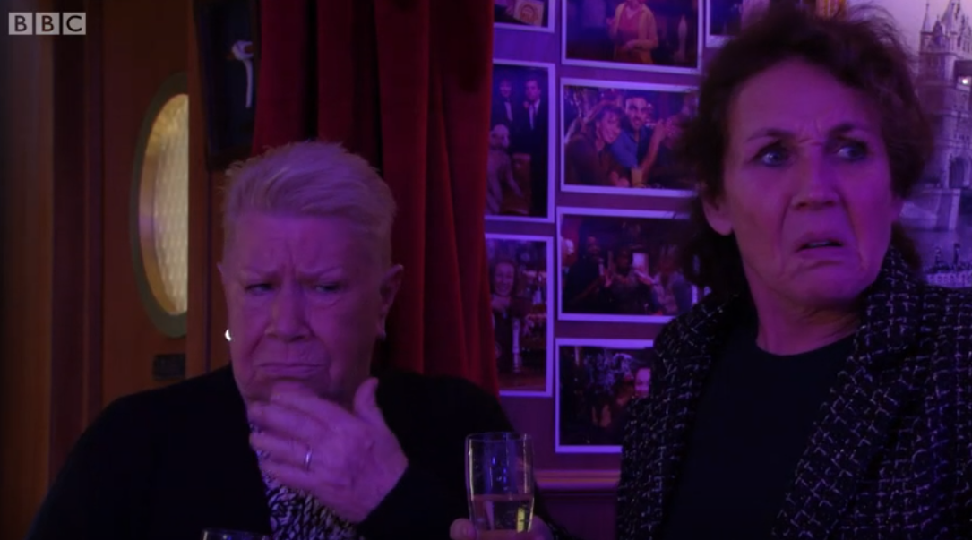 EastEnders fans in stitches as Tracey the barmaid reveals one-night stand with Phil Mitchell