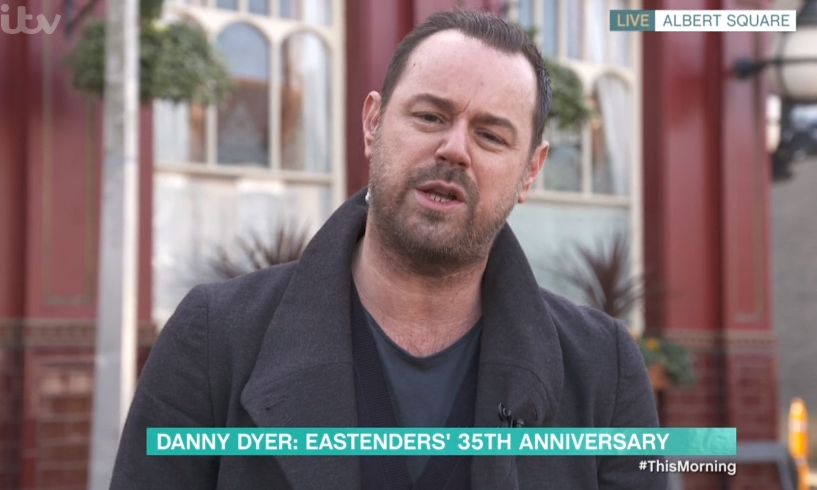 EastEnders' Danny Dyer says he 'looked like Dot Cotton' after filming 35th anniversary scenes