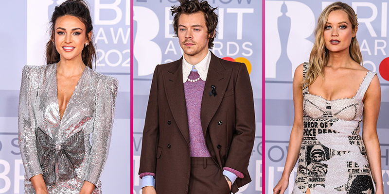 Michelle Keegan, Harry Styles and Laura Whitmore lead the best-dressed stars on the BRITs red carpet