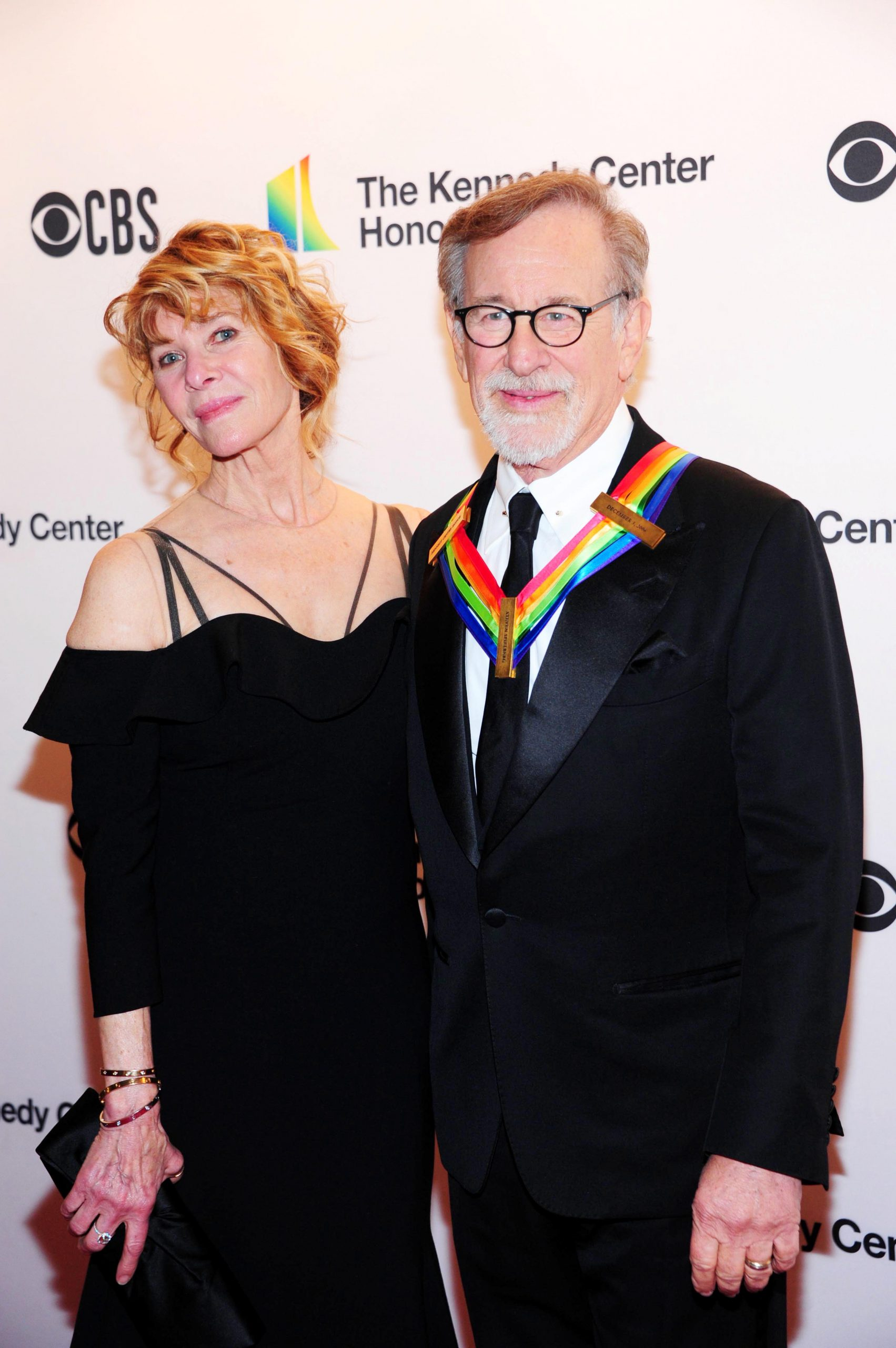 Steven Spielberg and his wife