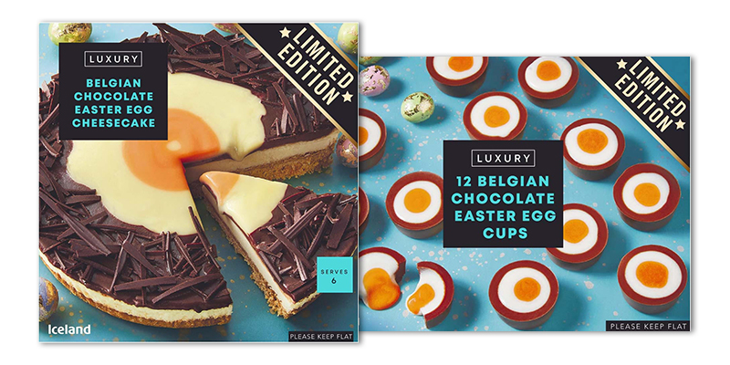 Iceland launches Creme Egg-style Easter desserts that are 'dripping' in chocolate