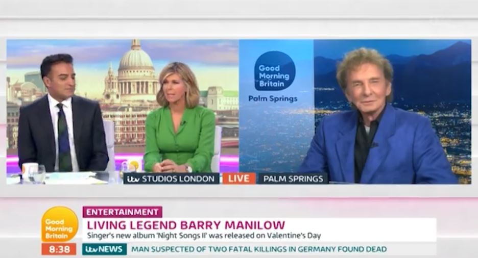 Good Morning Britain's Kate Garraway stunned as legendary singer Barry Manilow interrupts her with sex jokes