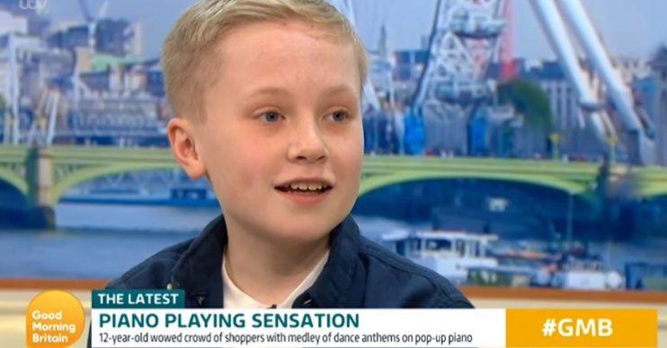 Piano playing boy on Good Morning Britain