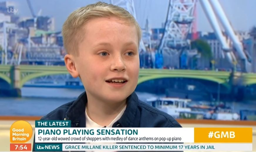 Good Morning Britain viewers call for 'amazingly talented' 12-year-old piano player to go on BGT after 'beautiful' performance
