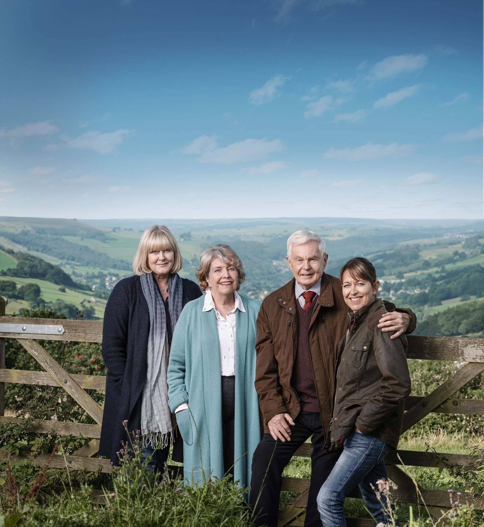 Nicola Walker and her co-stars in Last Tango in Halifax (Credit: BBC One)