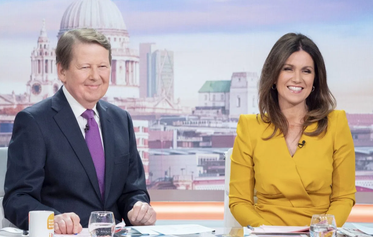 Bill Turnbull reunites with Susanna Reid on Good Morning Britain