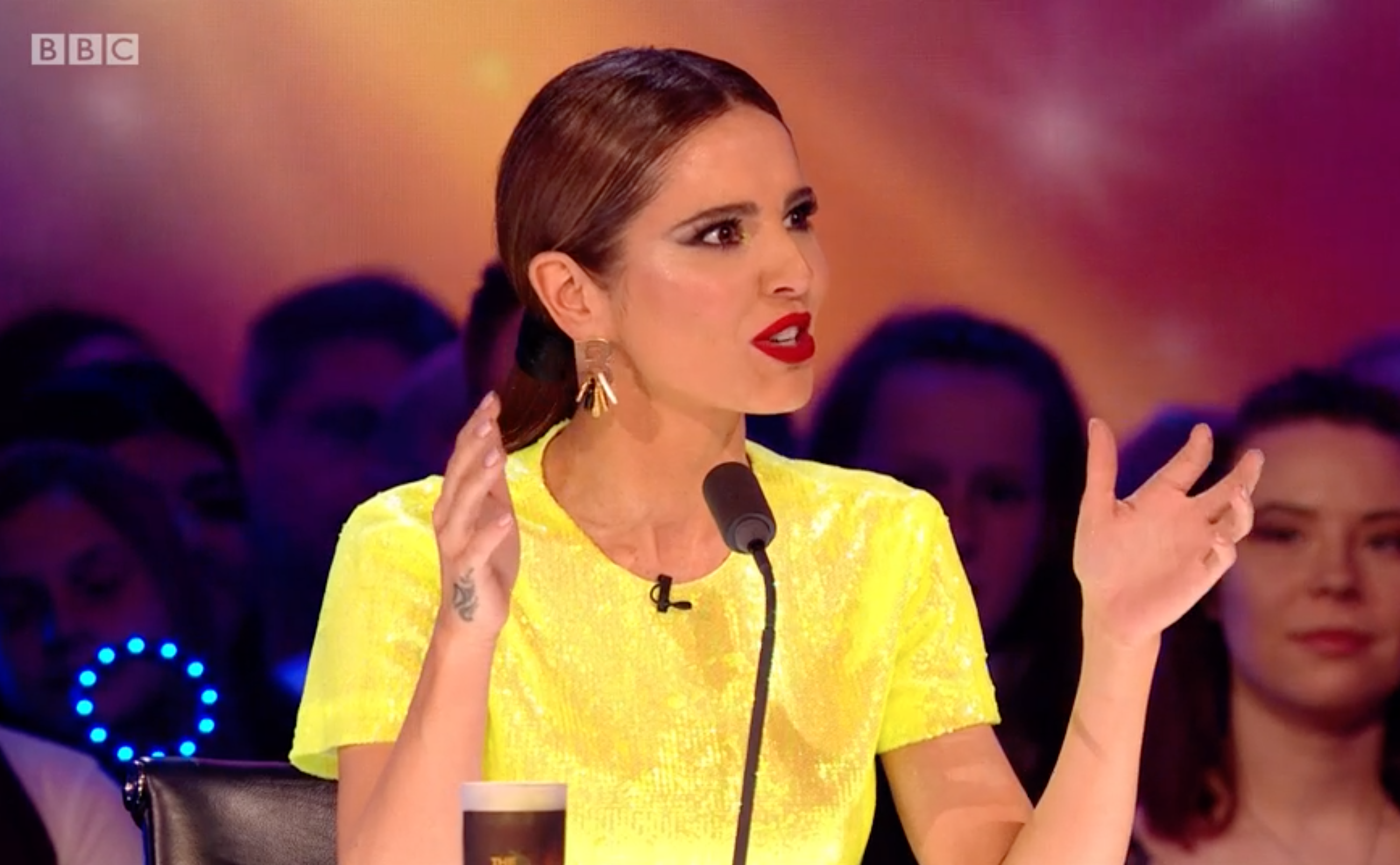 Viewers confused as Cheryl's eyes 'change colour' on The Greatest Dancer