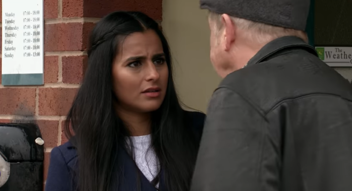 Coronation Street Alya Geoff Credit: ITV/YouTube