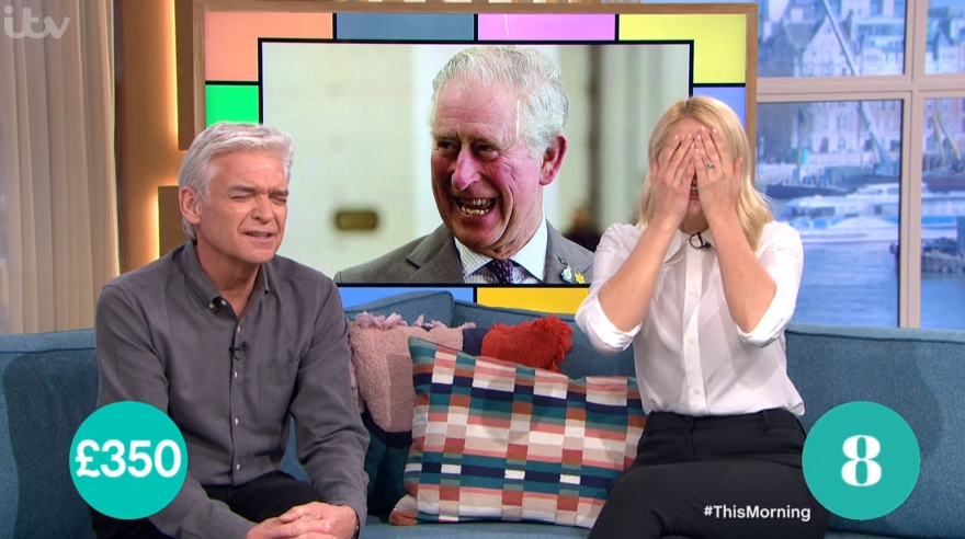 This Morning's Holly Willoughby red-faced over embarrassing Prince Charles blunder