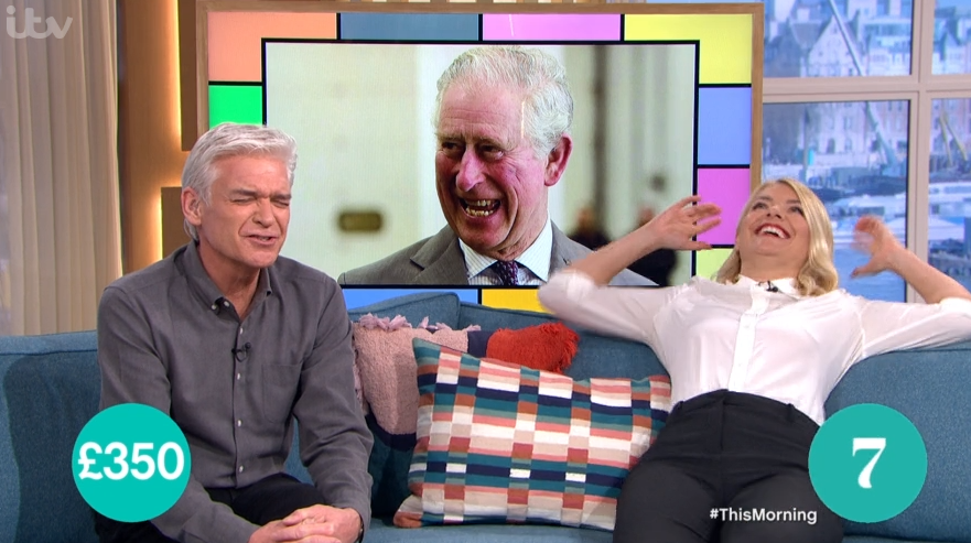Holly Willoughby bursts into hysterics as she forgets Prince Charles' name on This Morning
