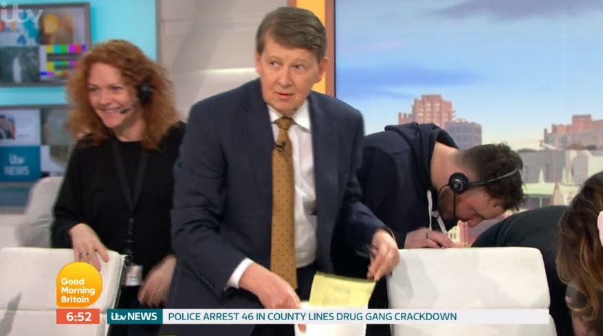 Good Morning Britain descends into chaos as Bill Turnbull loses earpiece