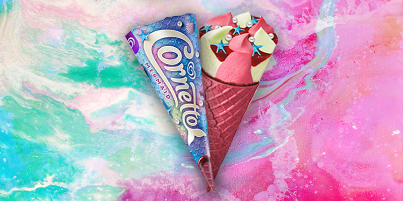 Ice cream fans are raving about the 'delicious' new Mermaid Cornetto with its pink wafer cone