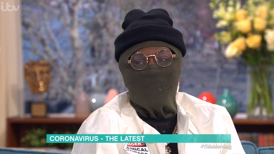 This Morning viewers baffled by guest wearing a balaclava