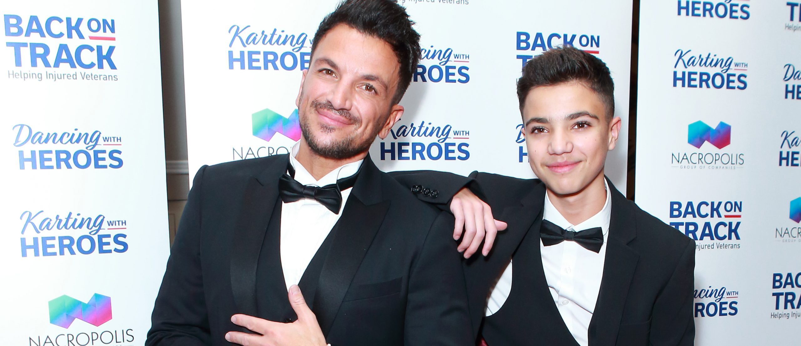 Peter Andre's son Junior pokes fun at his age in birthday tribute