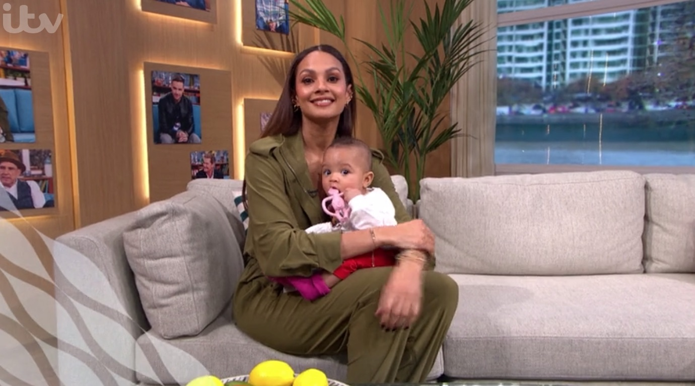 This Morning viewers melt over Alesha Dixon's baby daughter as she makes her TV debut