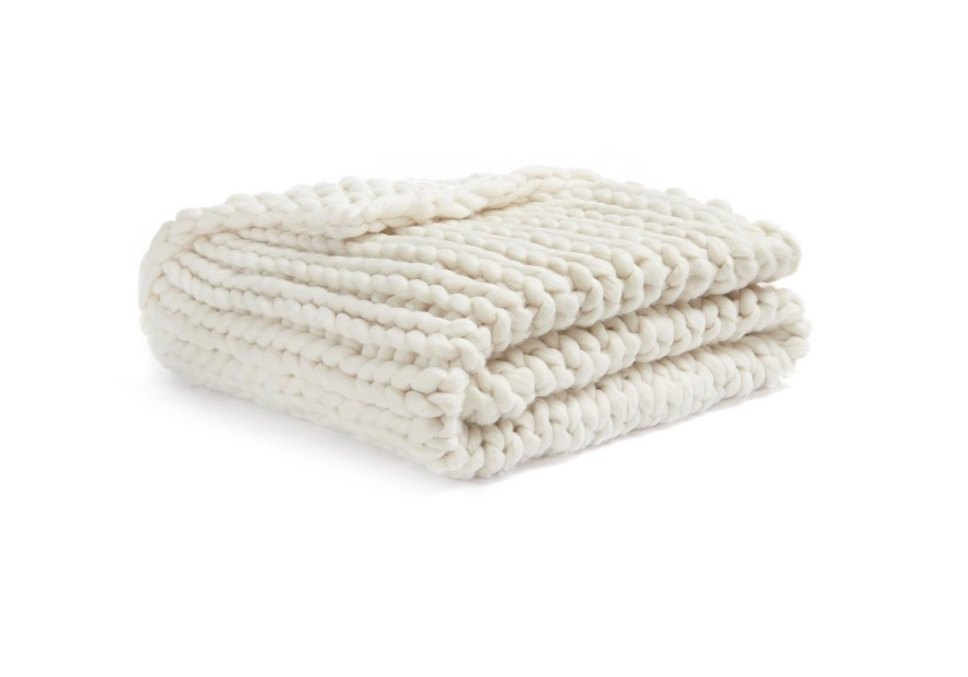 Primark is selling a chunky-knit throw for half price... in the sale for £15!